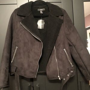 Forever 21 Jackets & Coats - Forever 21 black coat with full sherpa lining